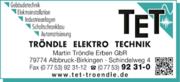 TET - Tröndle Elektro Technik