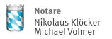 Notare Nikolaus Klöcker und Michael Volmer